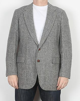 "Harris Tweed 42"" Medium Large Jacket Blazer Grey   (65E)"