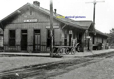 St Mary's  West Virginia The Old Railroad Depot & Station In September 1906