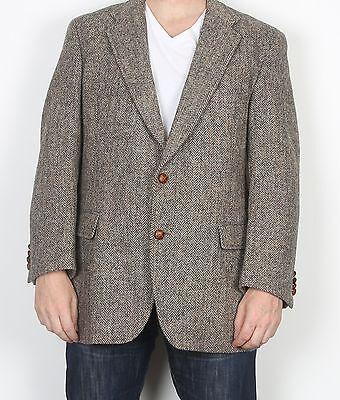 "Harris Tweed 44"" Large XL  Jacket Blazer Brown    (85K)"