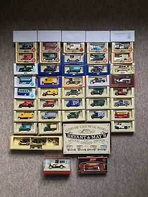 Job Lot of Model Vintage Die Cast Cars and Trucks - Mostly Lledo