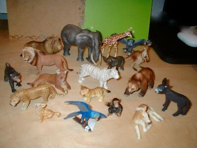 Schleich - selection of wild animal figures -superb detail -very good condition
