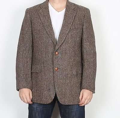 "Harris Tweed 44"" Large XL  Jacket Blazer Brown    (85G)"