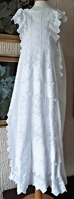 Antique Baby Christening Gown/lots Of Lace Plus Embroidery/frills