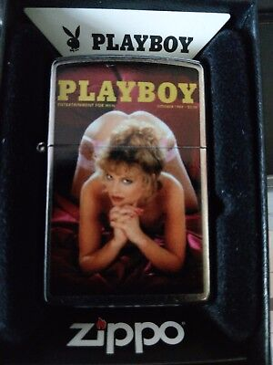 Zippo  Very Rare  Playboy Pin Up Covergirl Oct 1984