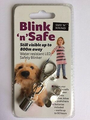 Blink 'n' Safe Water Resistant LED Safety Blinker ~ VISIBLE UP TO 800m AWAY!