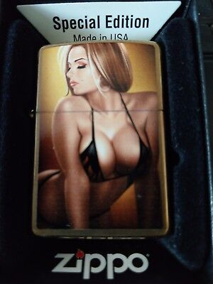 Zippo  Very Rare  Keith Garvey Pin Up Girl (Amber) Special Edition
