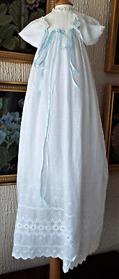 Vintage Baby Christening Gown/lace And Ribbons
