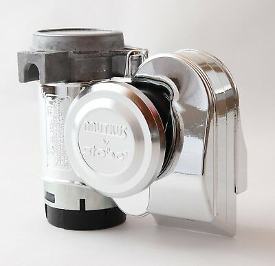 Stebel Nautilus Compact chrome horn 12V for cars / motorcycles - extremely loud!