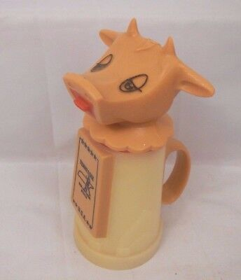 Vintage plastic moo cow creamer syrup dispenser Tennessee souvenir Whirley