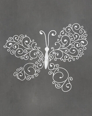 Secretly Designed Butterfly Graphic Art Paper Print