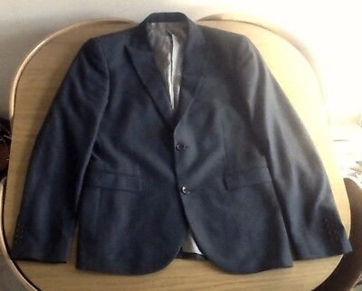 Next Mens Skinny Fit Suit 40R 32W grey dog tooth VGC