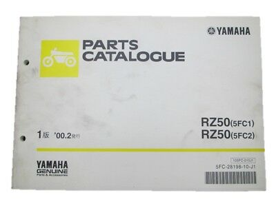 YAMAHA Genuine Used Motorcycle Parts List RZ50 Edition 1