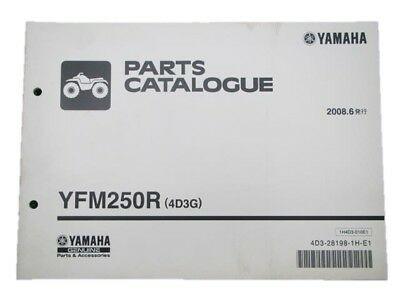 YAMAHA Genuine Used Motorcycle Parts List YFM250R Edition 1