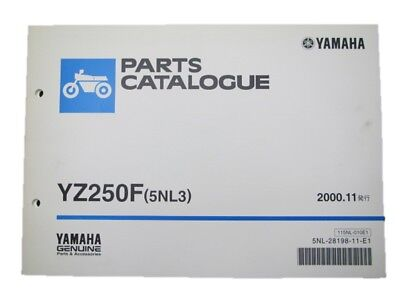 YAMAHA Genuine Used Motorcycle Parts List YZ250F