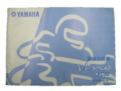 YAMAHA Genuine Used Motorcycle Instruction Manual Vino SA26J