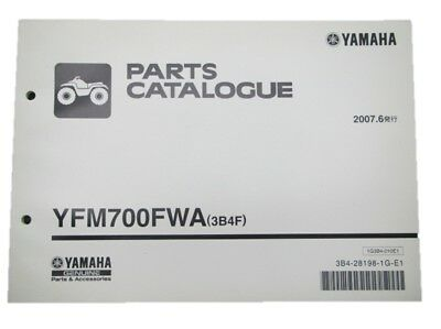 YAMAHA Genuine Used Motorcycle Parts List YFM700FWA Edition 1