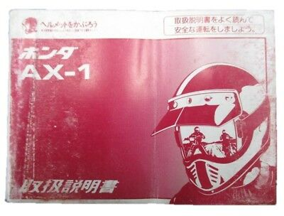 HONDA Genuine Used Motorcycle Instruction Manual AX-1 MD21 with Diagram