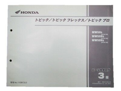 HONDA Genuine Used Motorcycle Parts List Topic Edition 3