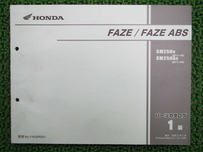 HONDA Genuine Used Motorcycle Parts List Faze ABS Edition 1 SM250 A MF11-100