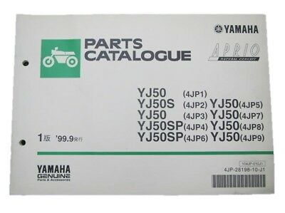 YAMAHA Genuine Used Motorcycle Parts List Jog Aprio Edition 1