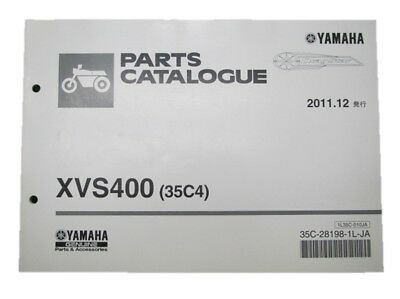 YAMAHA Genuine Used Motorcycle Parts List DragStar 400 Edition 1
