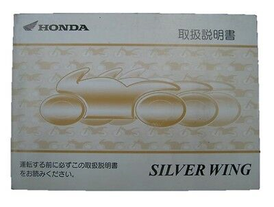 HONDA Genuine Used Motorcycle Instruction Manual Silver Wing 600 PF01
