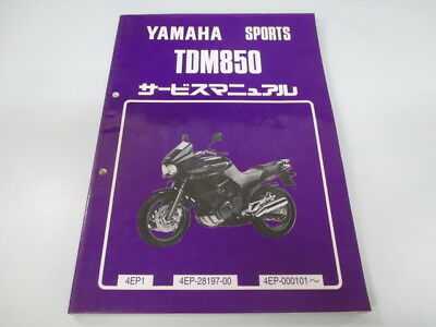YAMAHA Genuine Used Motorcycle Service Manual TDM850 4EP