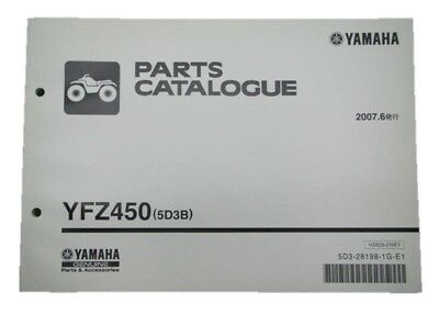 YAMAHA Genuine Used Motorcycle Parts List YFZ450 Edition 1