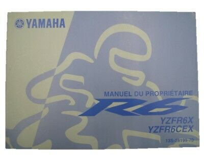 YAMAHA Genuine Used Motorcycle Instruction Manual YZF-R6 RJ15 in English