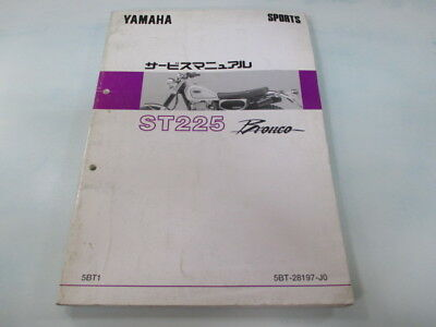 YAMAHA Genuine Used Motorcycle Service Manual Bronco ST225 5BT1