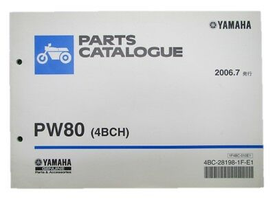 YAMAHA Genuine Used Motorcycle Parts List PW80 Edition 1