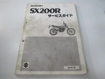 SUZUKI Genuine Used Motorcycle Service Manual SX200R SH41A-100