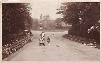 Postcard Horton Park Bradford Lady Smiling At Camera & Children by Bamforth RP