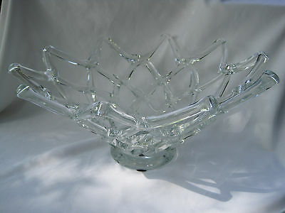 Estate, Stunning Large Lattice Crystal Bowl