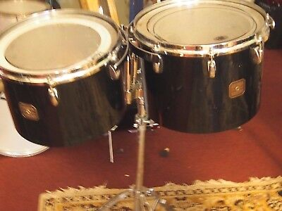 "GRETSCH VINTAGE 13""&14"" CONCERT TOMS. w/ Oct. Badges, Grestch Labels. All orig."