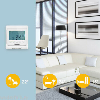 3x digital thermostat raumthermostat fu bodenheizung. Black Bedroom Furniture Sets. Home Design Ideas