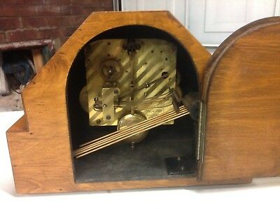 Rare 1930's 'Norland' art deco style mantel clock,spares/repairsNN