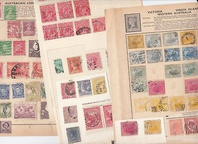 Stamps Australia carefully removed from old albums see all scans