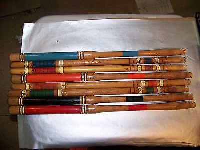 lot of 8 croquet mallet handles 24 inches.  handles only