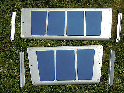 Pair of Linder aluminium canoe seats with mounting brackets