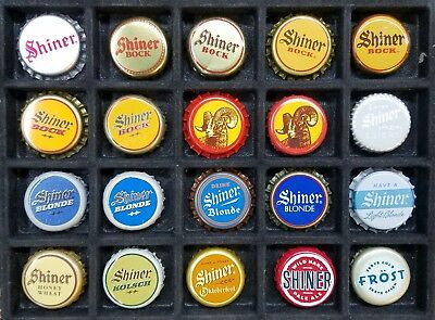 40 DIFFERENT SHINER BEER COLLECTION Beer Bottle Cap Crown USED & UNUSED PL CAPS