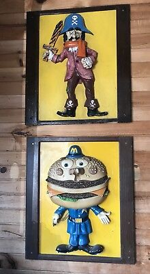 Vintage McDonalds Fast Food signs captain crook and officer big mac