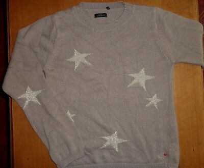 Pull IKKS 10 ans beige taupe, étoiles or