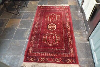 Old Persian Rug - 35 3/4  x  62 Inches  ( 91  x  157 cms. )