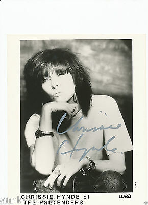 "HAND SIGNED Chrissie Hynde ""Pretenders"" 8"" X 10"" B & W WEA Promo Photo-#185-1990"