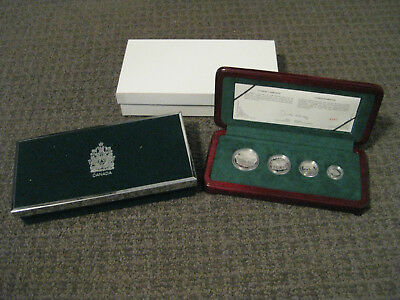 1998 Royal Canadian Mint-Gray Wolf Platinum Proof Set-4 Coins-MIB with COA