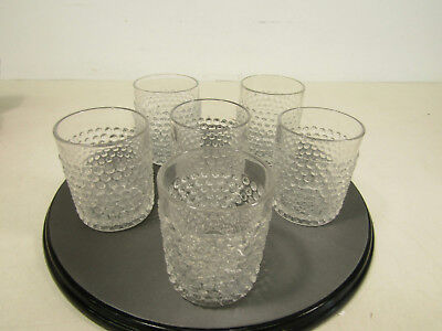 Vintage Westmoreland? Clear Glass English Hobnail Juice Glasses