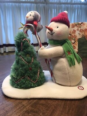 Hallmark Jingle Pals 2010 Trimming Tree Plush Singing Snowman Penguin Christmas