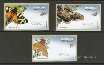 Portugal Butterflies Butterfly Insects new ATM stamps 2017