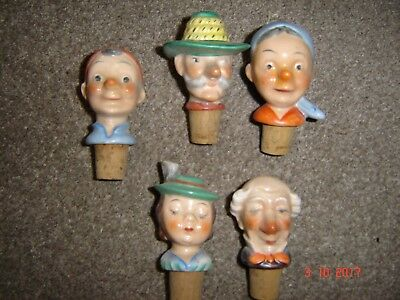 5 x china head bottle stoppers